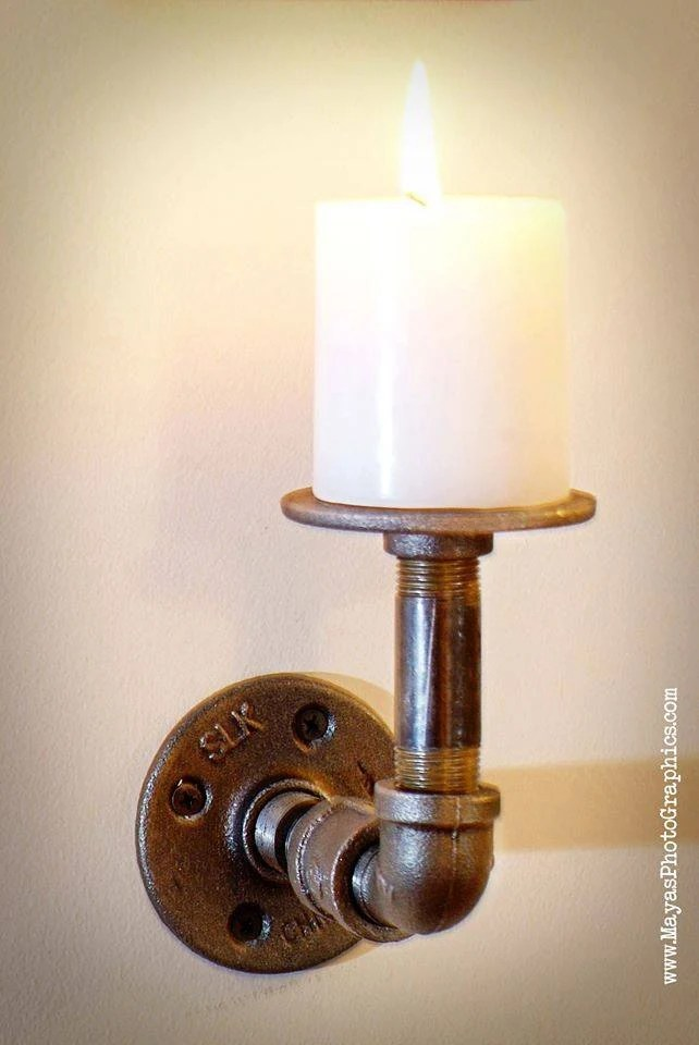 Kerzenhalter Für Wand Items Similar To Industrial Pipe Wall Mount Candle Holder