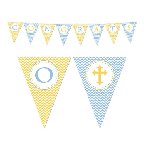 50 Off Sale! - PRINTABLE Boy or Girl First Communion Party Banners