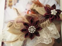 PLUS SIZE Brides Burlap Wedding Garter Set Marsala / Wine