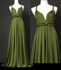 Sage Bridesmaid Dress Olive Green Infinity Dress Wrap