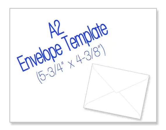 Free 4 3 8 X 5 3 4 Envelope Template Model Aviation - envelope a2