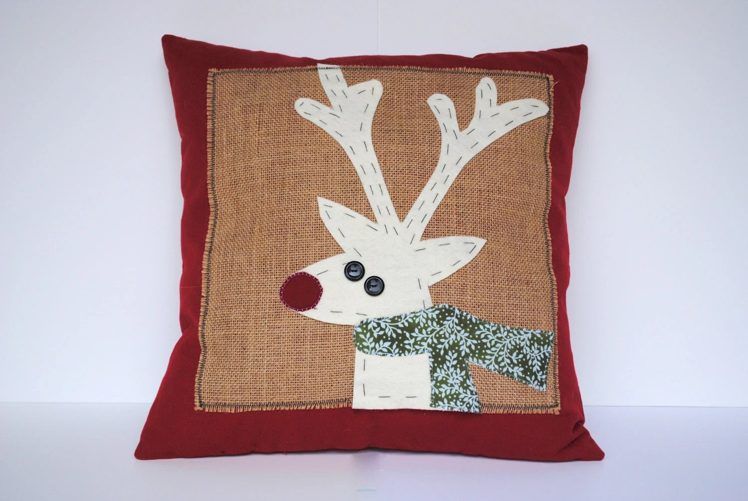 Cushion Covers Christmas Reindeer Christmas Pillow Cover Holiday Pillow Decorative
