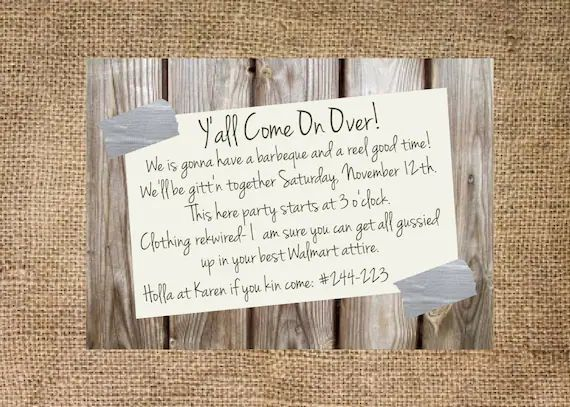 invite to a party wording