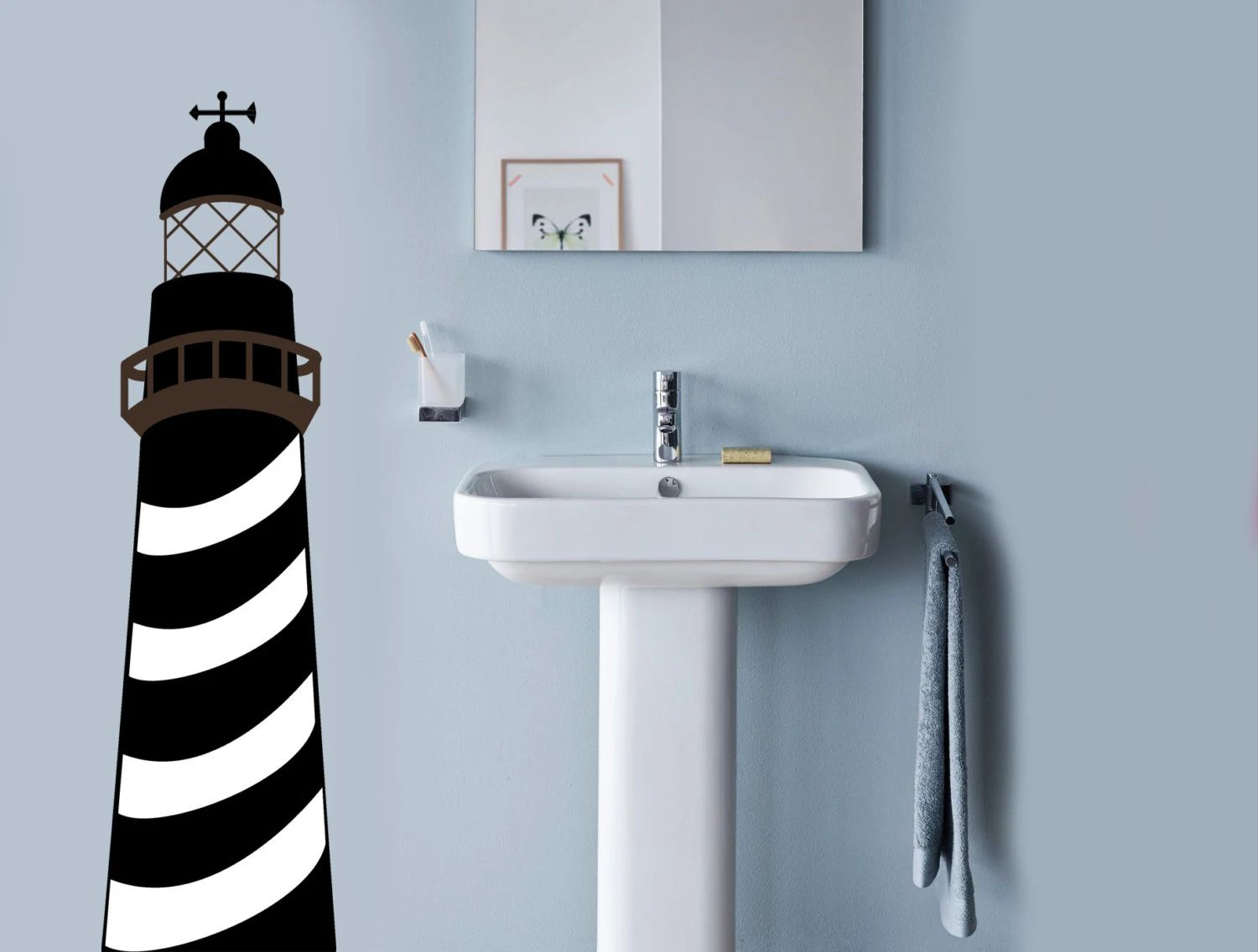 Lighthouse wall decal nautical decor ocean by jensvinyldecals