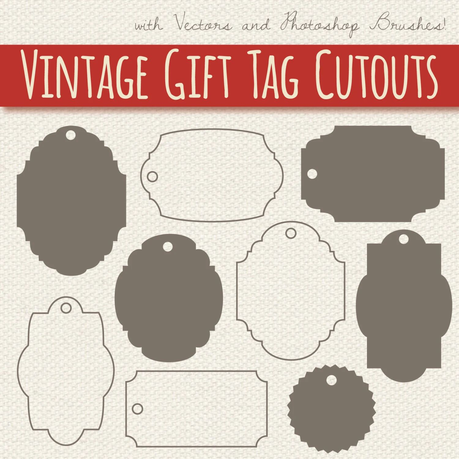 holiday gift tag clipart