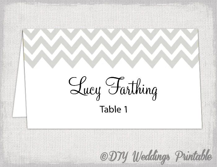place cards template wedding