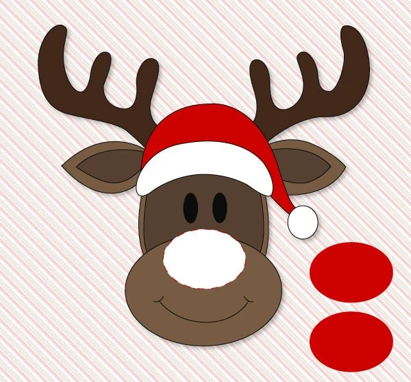 Rudolph The Red Nosed Reindeer Face Template