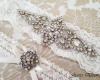 Light Ivory Lace Garter Set Lace Wedding Garter set