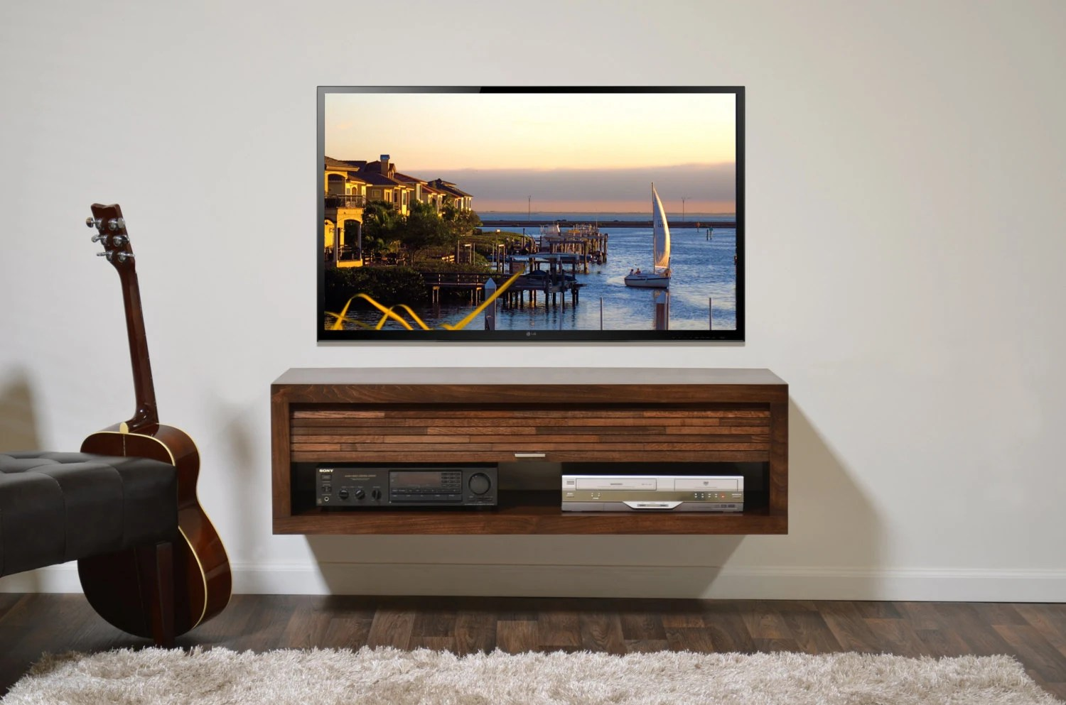 Floating Tv Stand Floating Tv Stand Eco Geo Mocha