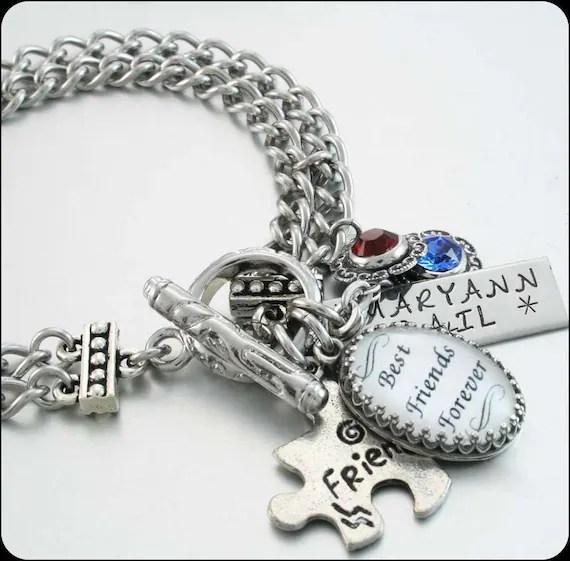Custom Best Friends Charm Bracelet Set Of 2 By