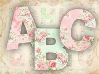 Items similar to Roses Alphabet Shabby Chic printable ...