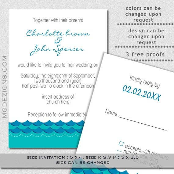 Czeshop Images Printable Ocean Wave Template