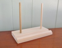 Plate holder plate display stand wood wooden by GraceYourNest