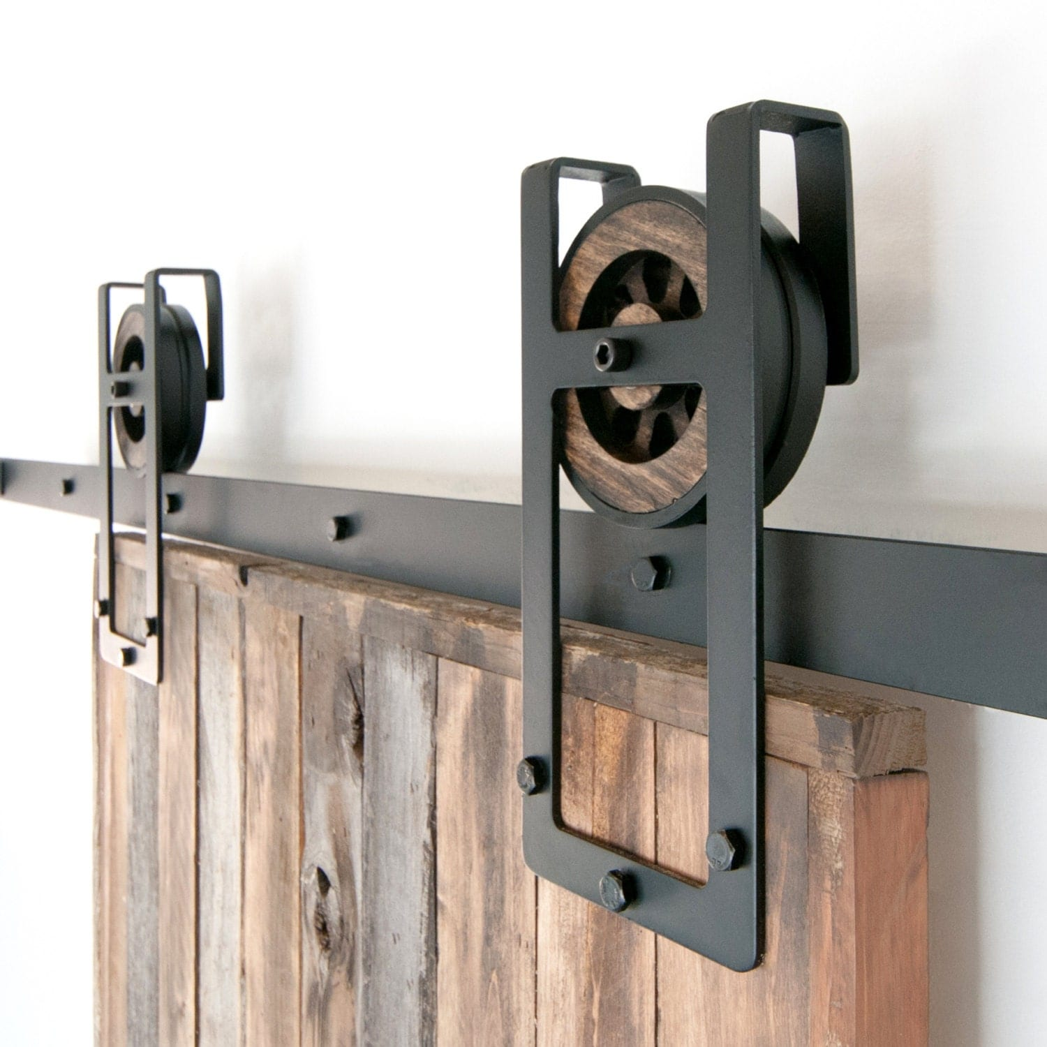 Rail De Porte Coulissante Industrielle Rustic Industrial European Square Horseshoe Sliding Steel