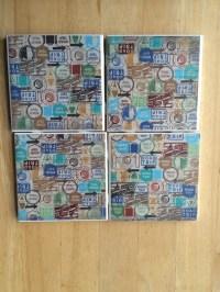 Custom made drink coasters by NeeNeesNicNacs on Etsy