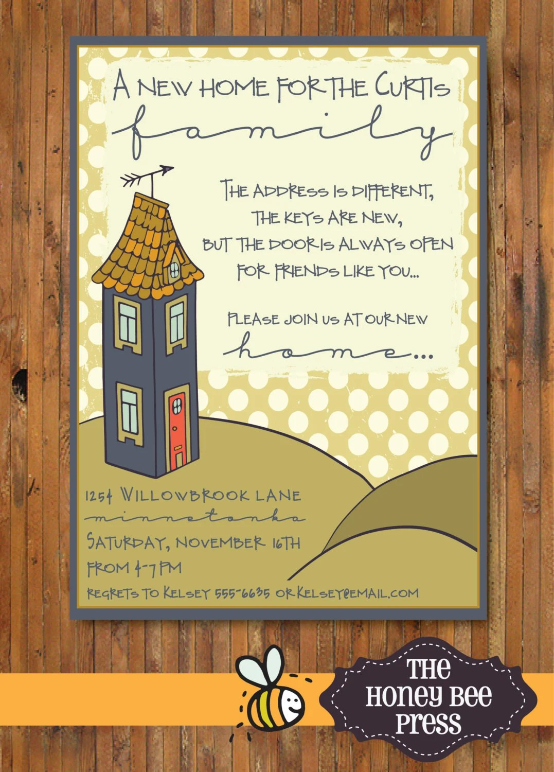 New Home Housewarming Party Invitation New Home Open House