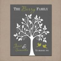 Family Tree Custom Wall Art Artwork Couple TREE by TRMdesign