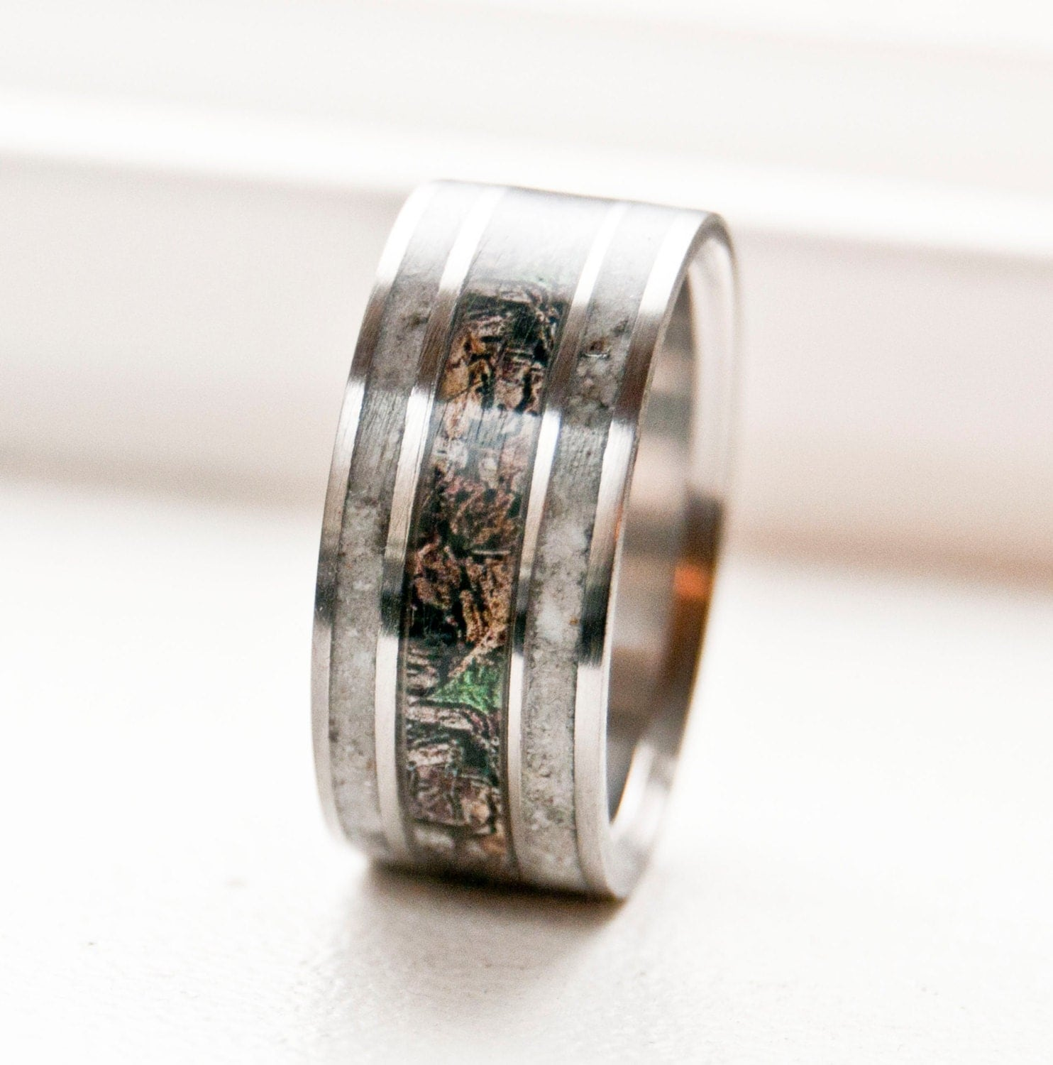 camo wedding band camo mens wedding bands Mens Wedding Band Camo with Antler Ring Staghead Designs