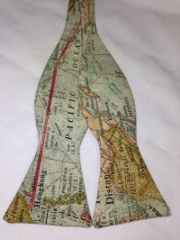 World Map Bow Tie by Dandynamic on Etsy