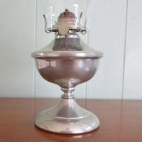 Vintage pewter oil lamp Risdon Mfg P&A Danbury CT with
