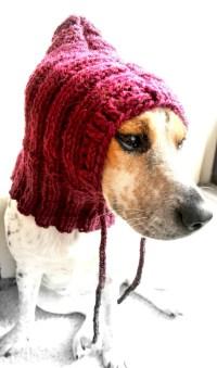 Extra small dog cowl dog hat pet cowl pet clothing dog