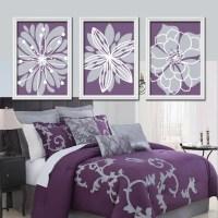 Purple Flower Wall Art Flower Burst Baby Girl Nursery Wall