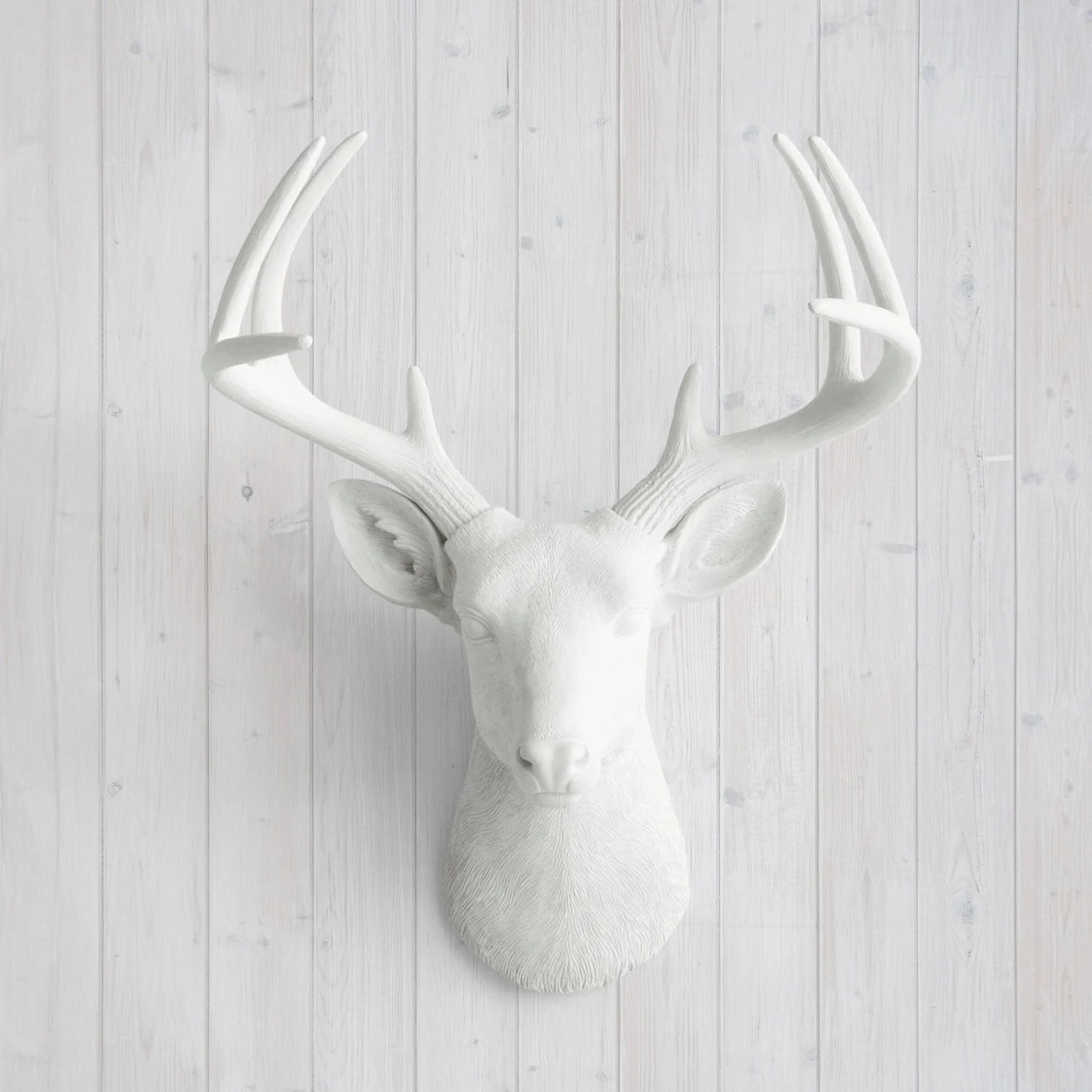 White Porcelain Deer Head Wall Charmers Deer In White Faux Head Fake Animal Resin