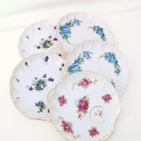 Vintage Dessert Serving Plates Luncheon Plates by WhimzyThyme
