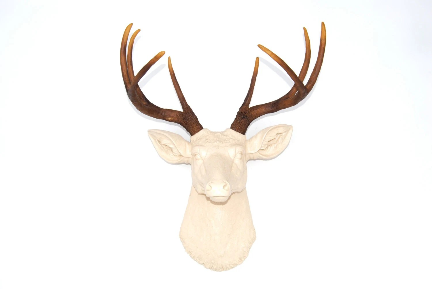 Fake Taxidermy Deer Head Faux Taxidermy Deer Head Wall Mount Ivory Deer With Natural