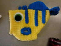 Flounder inspired Dog sweater / crocheted/ by ...