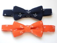 Nautical bow tie for boys anchor bow tie for boys navy bow