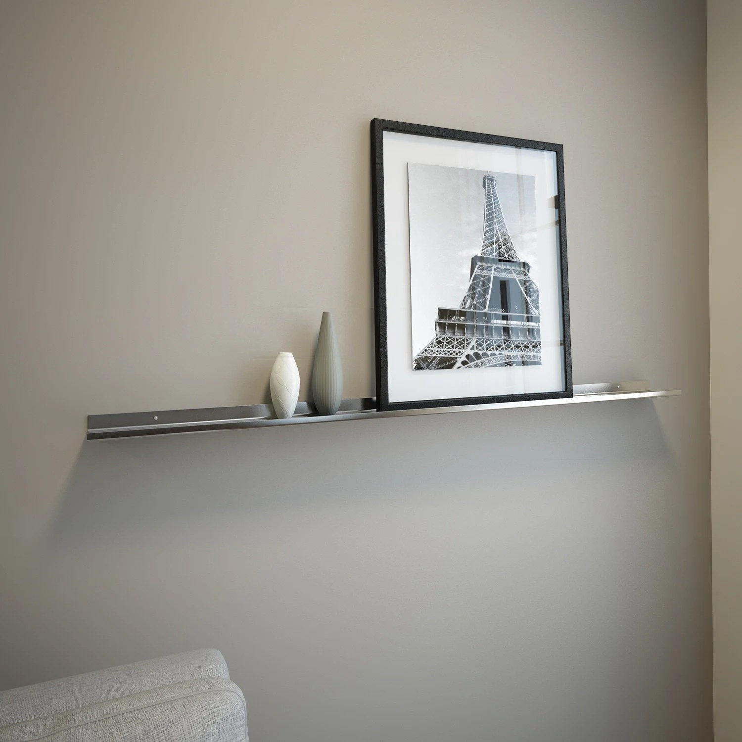 4 Ft Stainless Steel Floating Ledge For Photos And Pictures