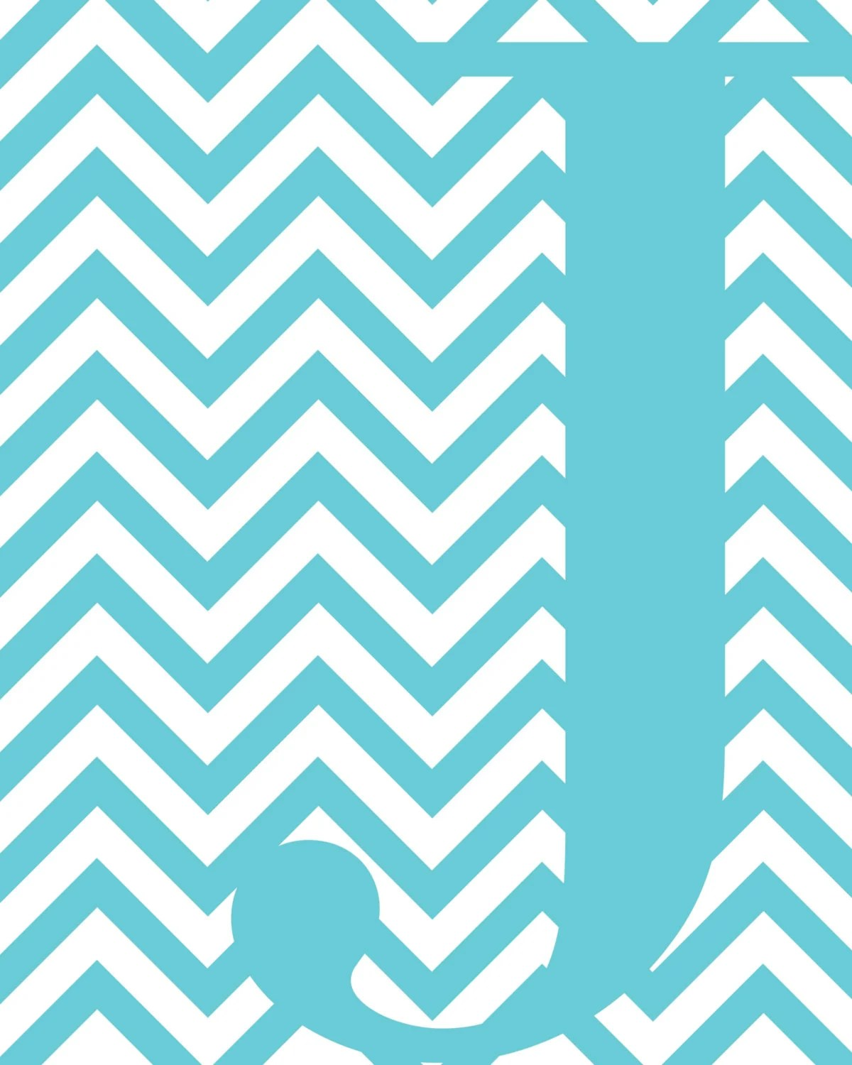Cute Wallpapers First Initial Letter A Items Similar To Blue Chevron J Monogram On Etsy