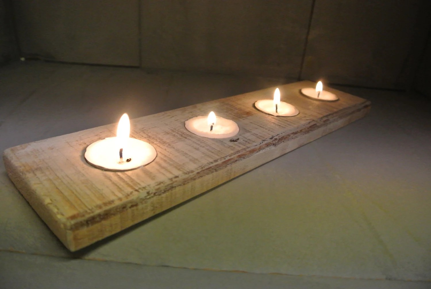 Wood Tealight Candle Holder Made From Recycled Pallets
