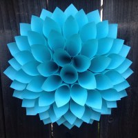 Paper Flower Dahlia- Turquoise - aquamarine - paper wreath ...