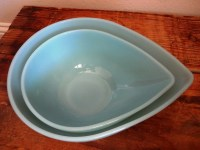 Small Vintage Fire King Azurite Blue Mixing Bowl