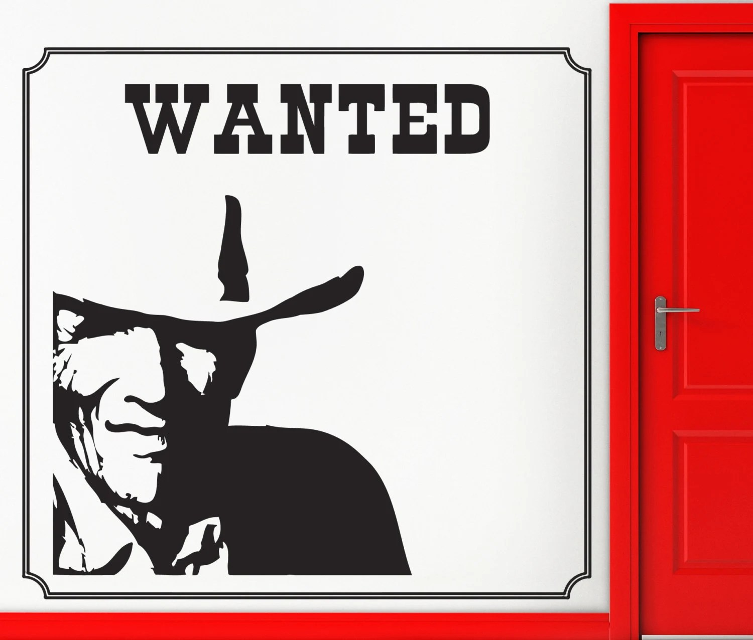 Stickers Exterieur Personnalisé Wall Stickers Vinyle Autocollant Wanted Police Criminel Maison