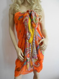 Beach Cover Up Summer Scarf Shawl Pareo Scarf Cotton by ...