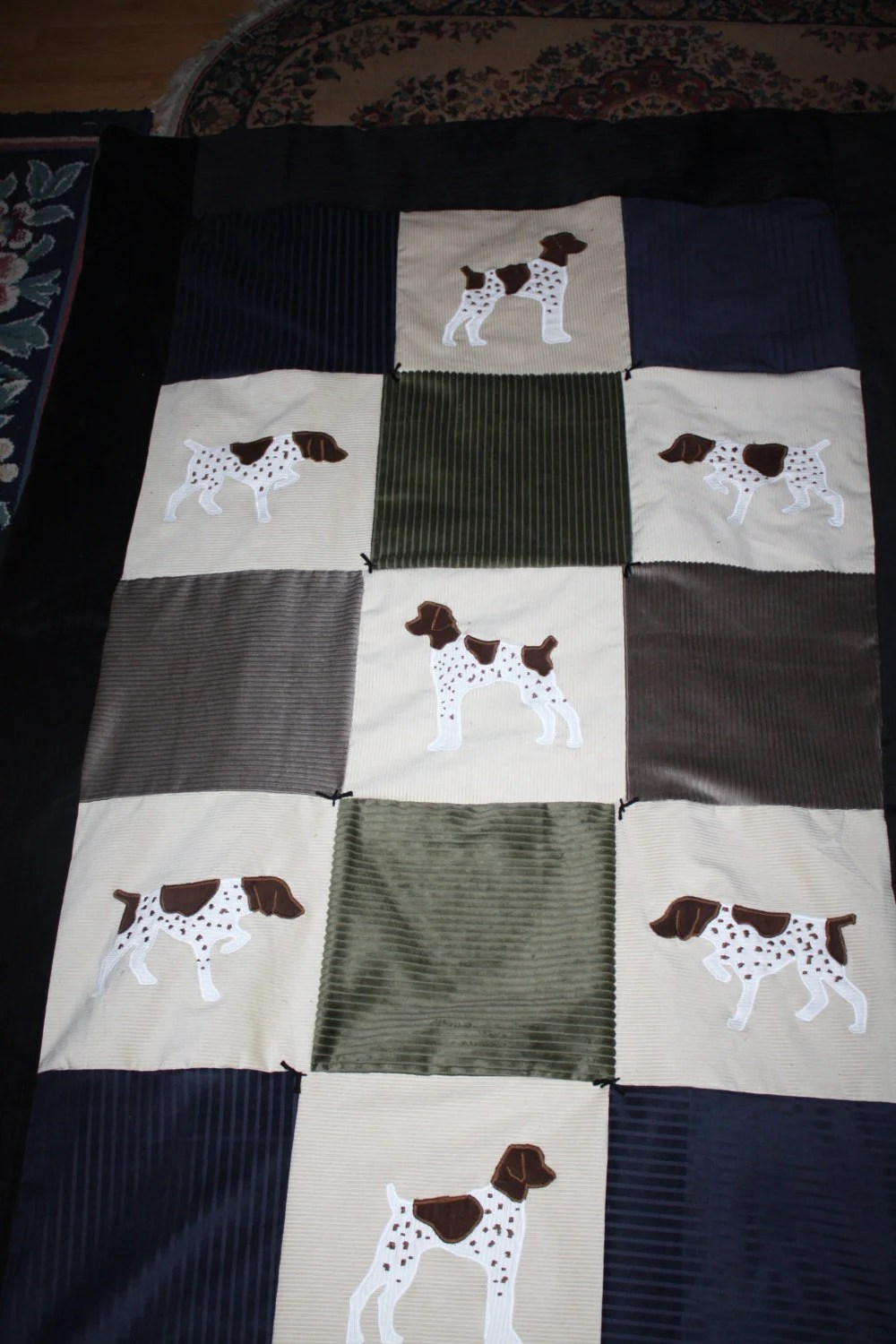 Couch Shops Items Similar To Handmade German Shorthaired Pointer Quilt