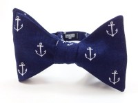 Nautical Anchor on Navy Bow Tie bowtie bow ties bowties