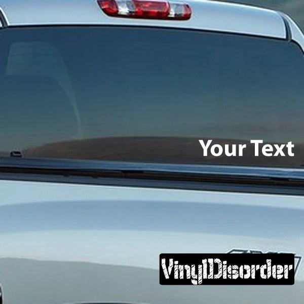 Custom Text Decal Wall Decal Car Decal