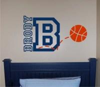 Basketball Name & Initial Wall Decal Basketball Wall Decal