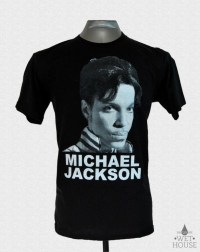 Michael Jackson Prince Face T-Shirt // black shirt white ink