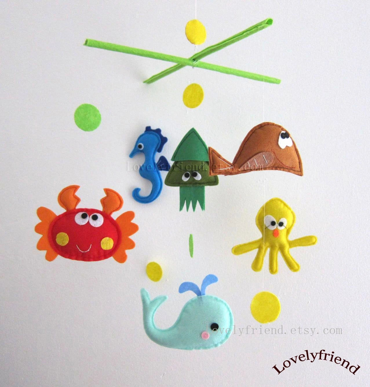 Crib Bedding Toys R Us Items Similar To Baby Mobile Octopus And Squid Crib