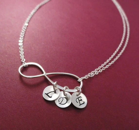 Items Similar To Personalized Infinity Necklace Mothers