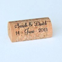Personalized Wine Cork Place Card Holders - Front Print Only