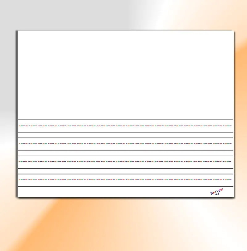 Lined paper with border for story writing
