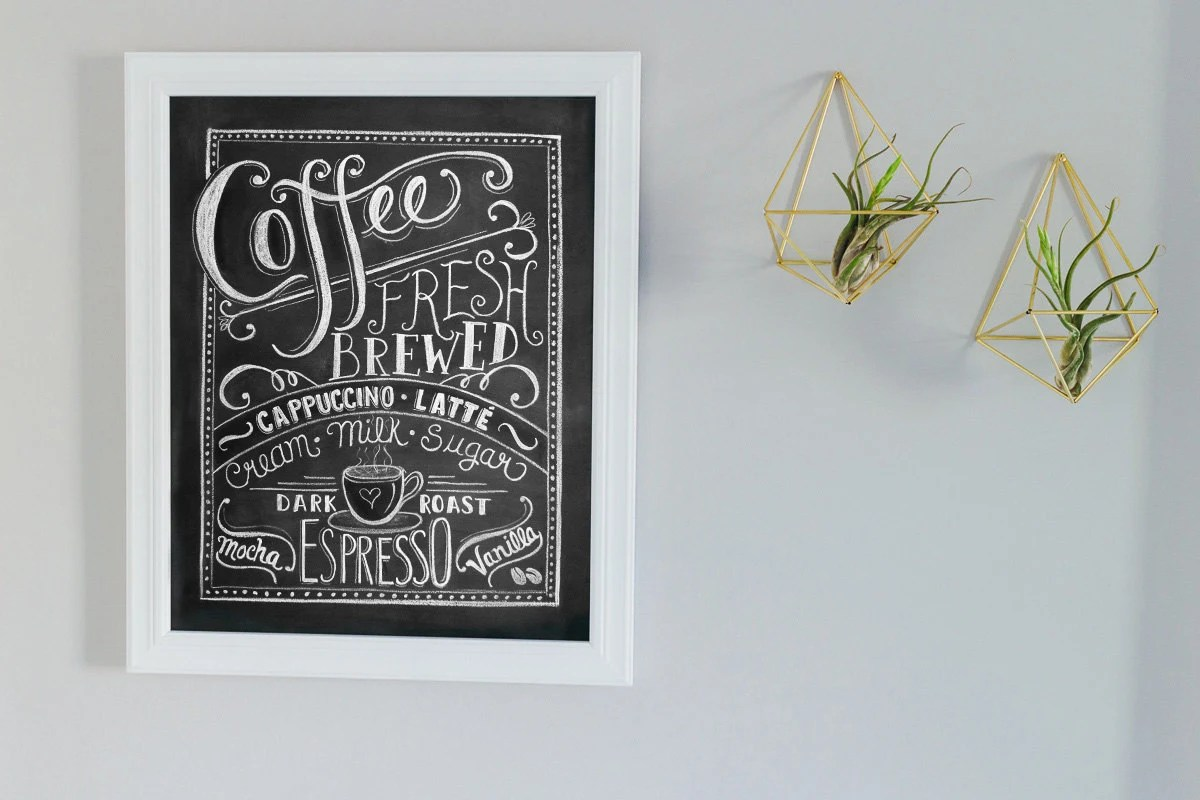 Coffee Art Etsy Coffee Sign Gift For Mom Coffee Lovers Gift Coffee Art