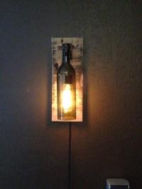 Rustic Wine Bottle Wall Light /Sconce Light by ...