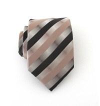 Mens Ties. Necktie Brown Taupe Stripes Mens Tie